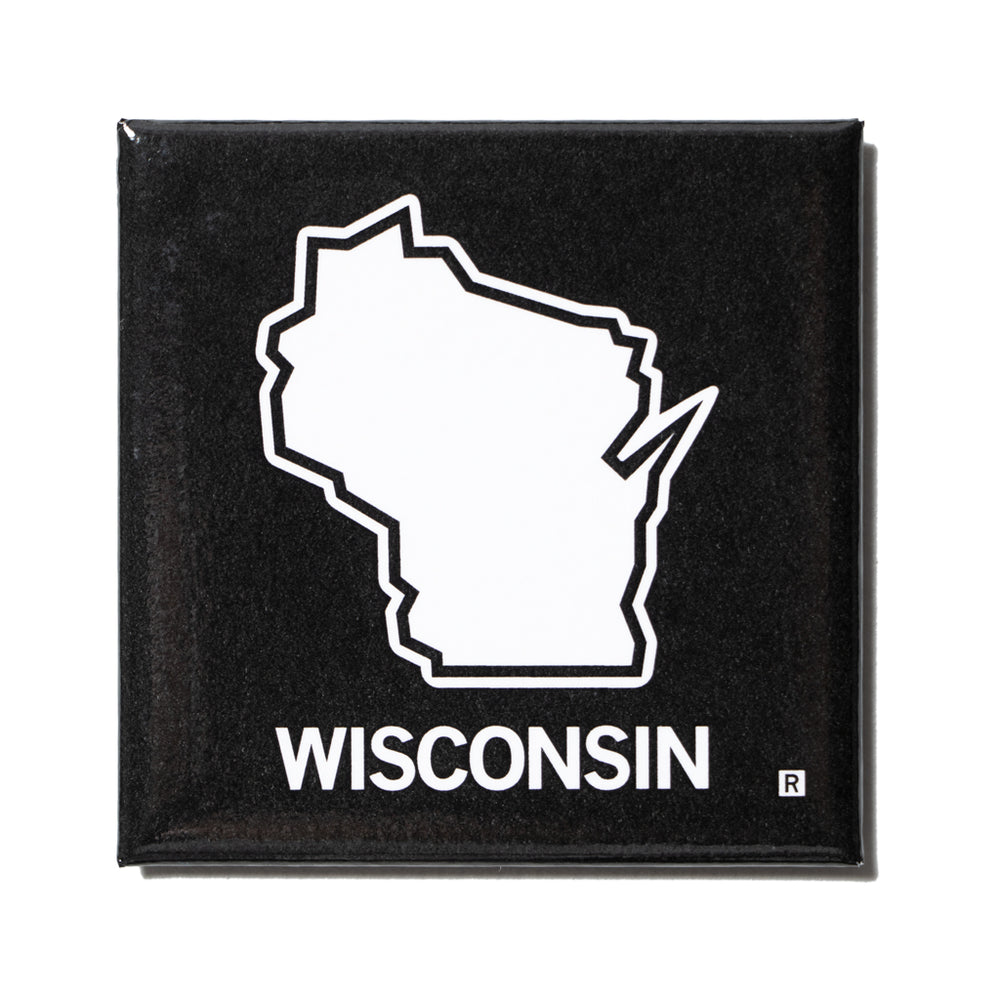 Wisconsin Outline Metal Magnet
