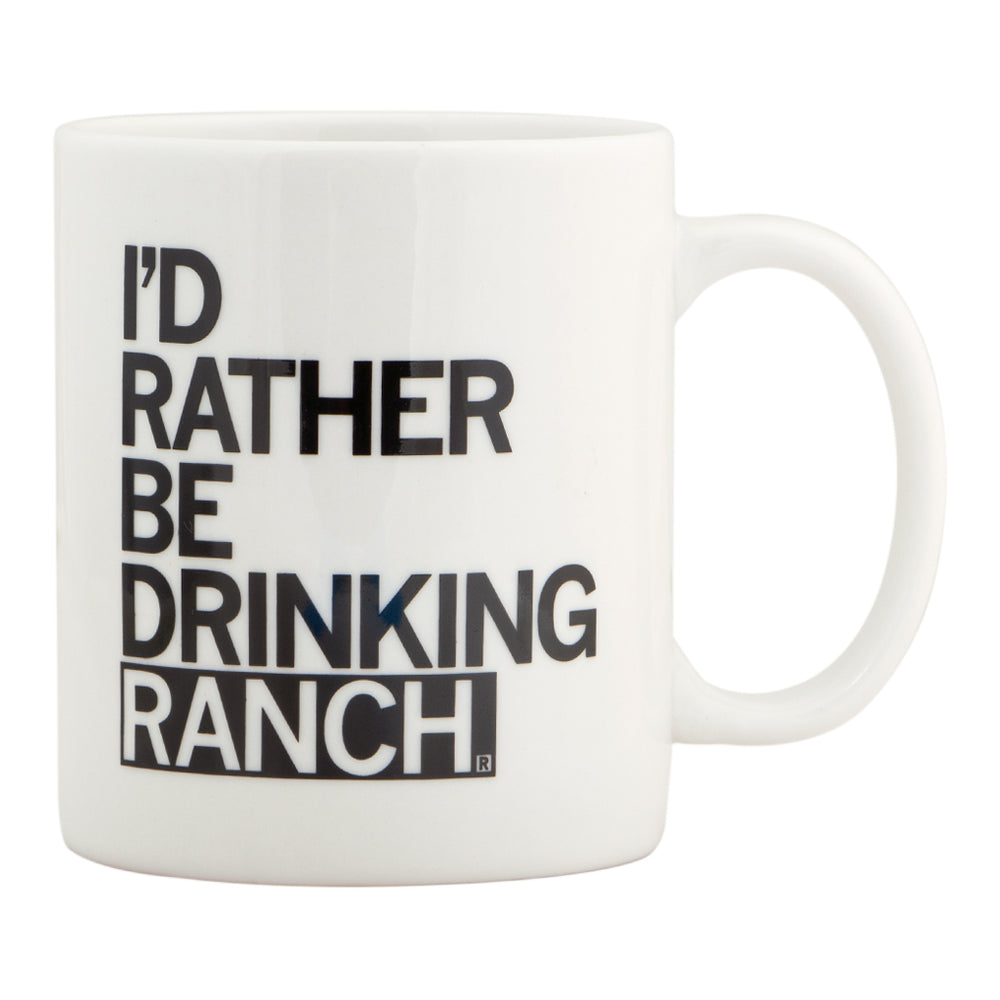 Drinking Ranch Text Mug