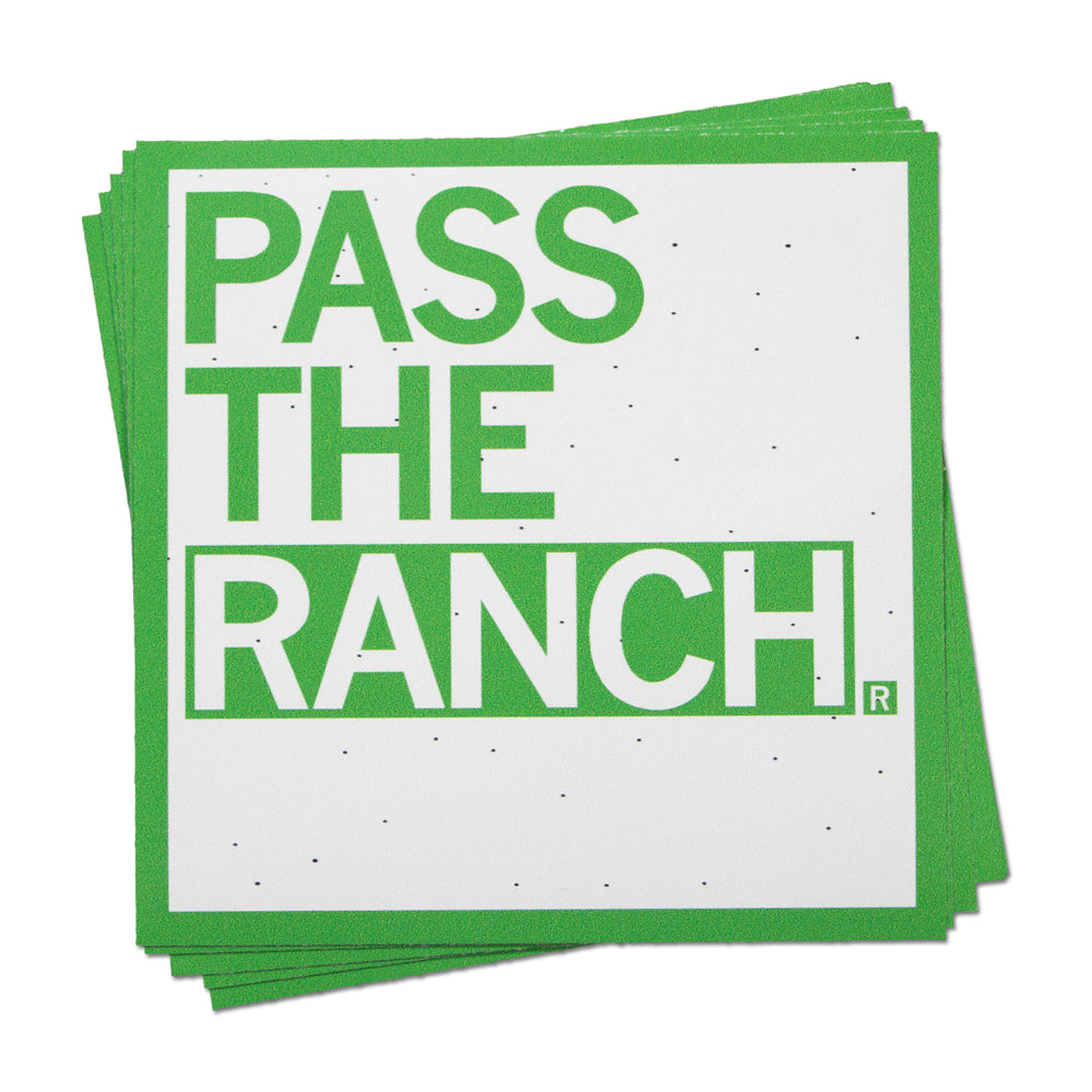 Pass The Ranch Text Sticker