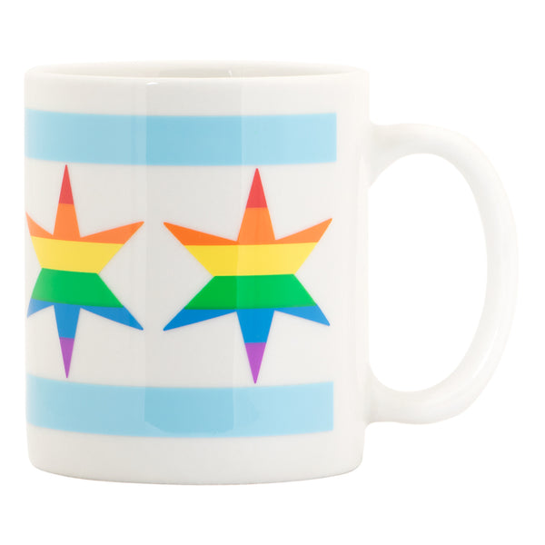 Chicago Pride Flag Star Mug