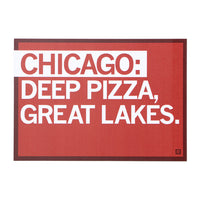 Chicago Deep Pizza Text Postcard