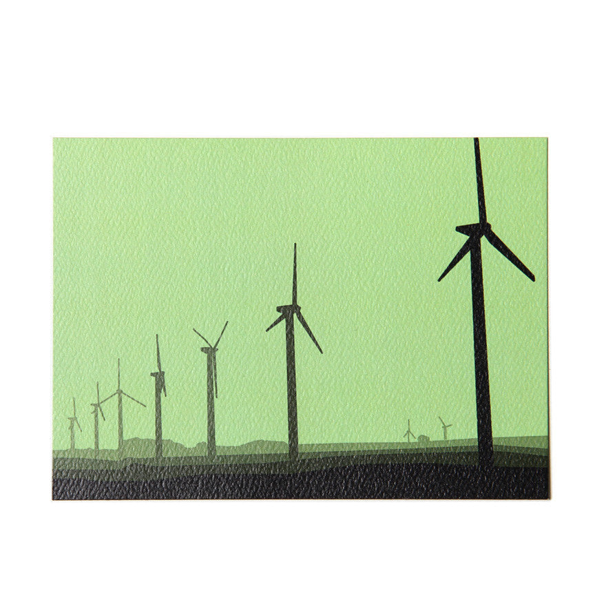 Wind Turbine Field Postcard