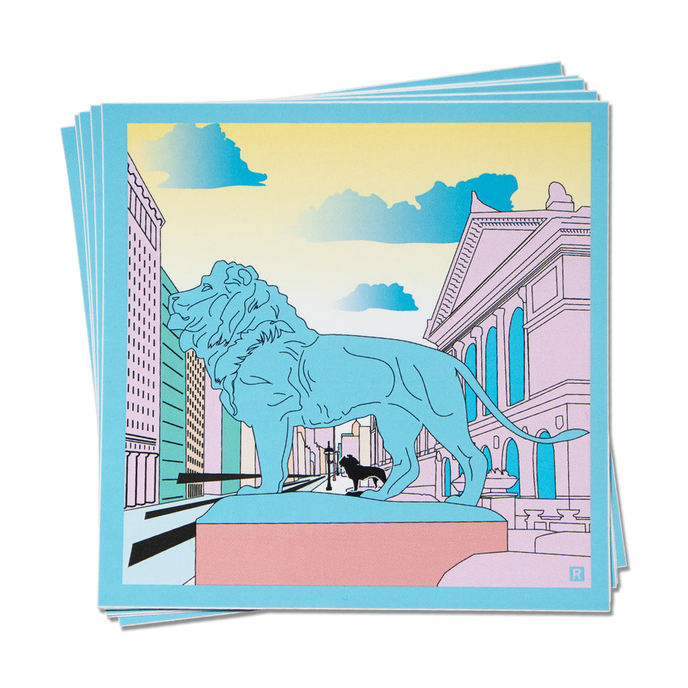 The Art Institute of Chicago Illustration Sticker