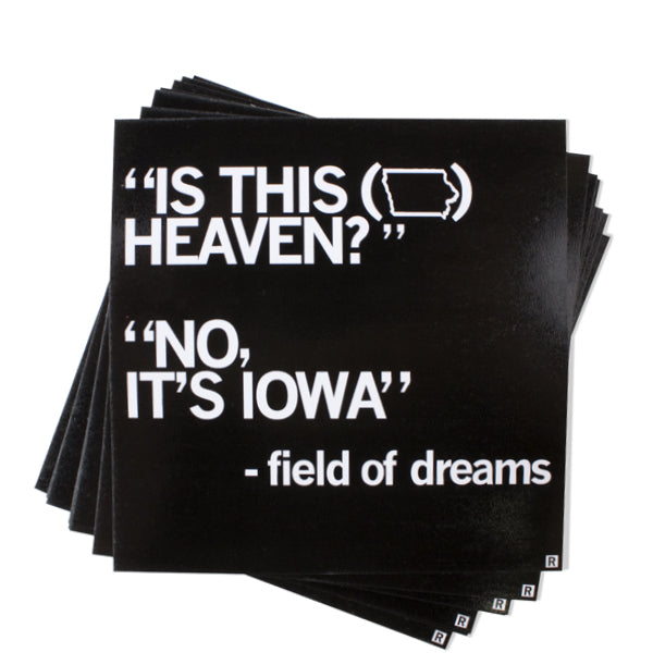Field of Dreams Is This Heaven? Sticker