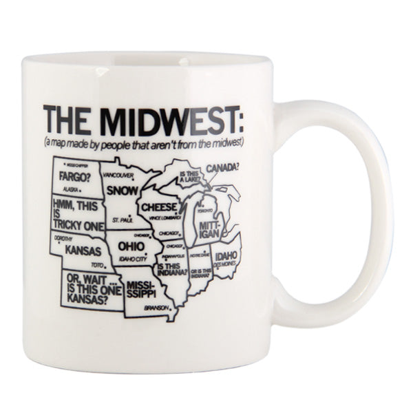 Midwest Map Graphic Mug