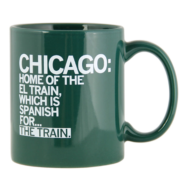 El Train Spanish For Train Text Mug