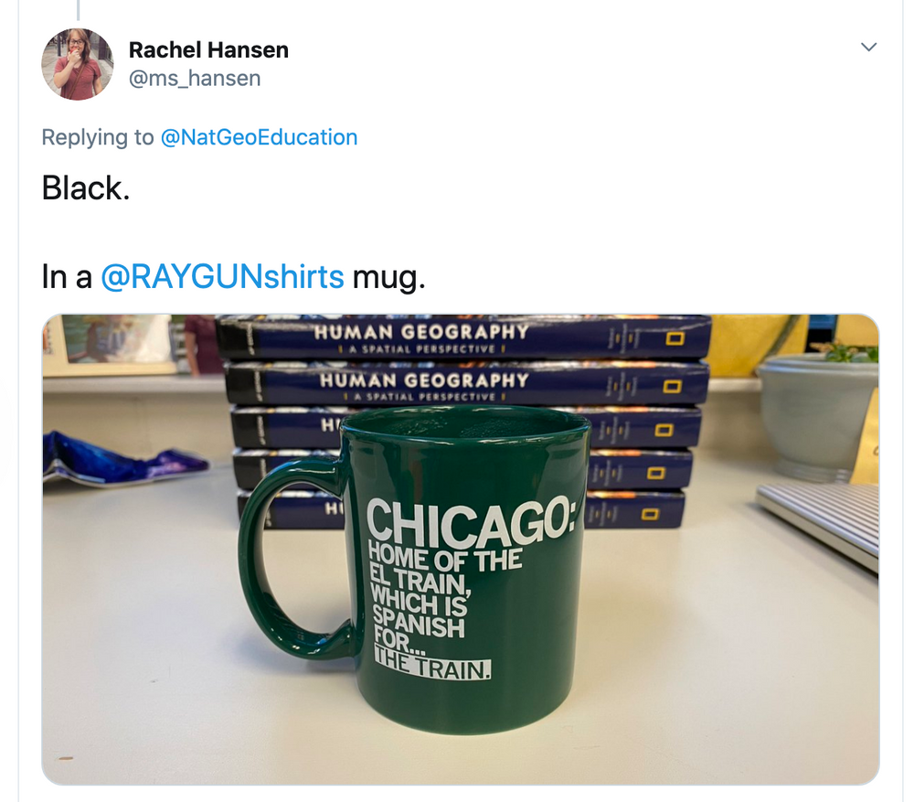El Train Text Mug
