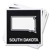 South Dakota State Outline Sticker