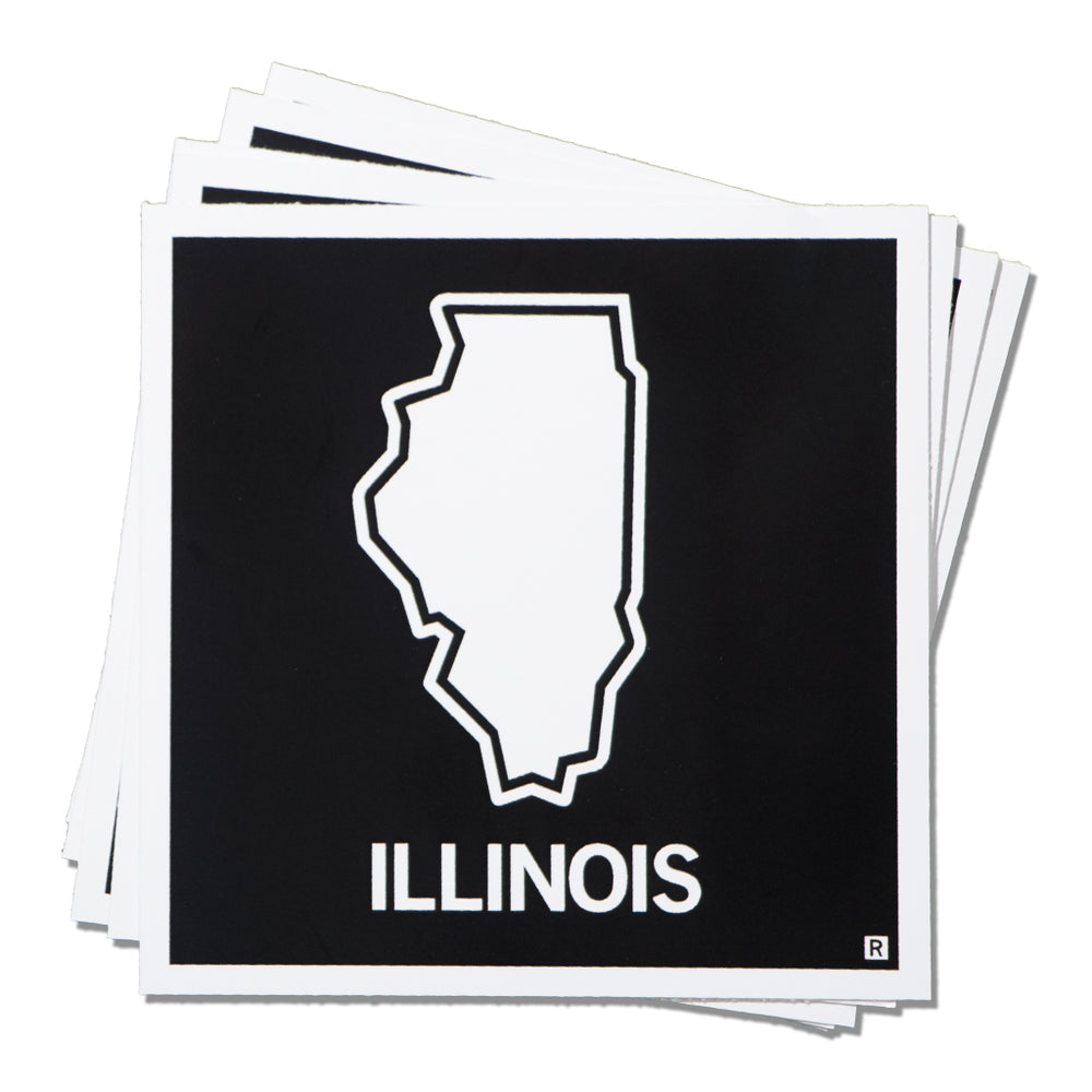 Illinois State Shape Sticker
