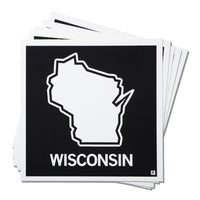 Wisconsin State Outline Sticker