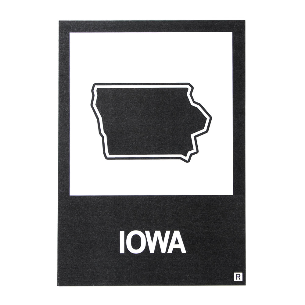 IA State Outline Postcard