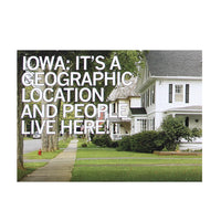 IA Geographic Location and People Live Here Postcard