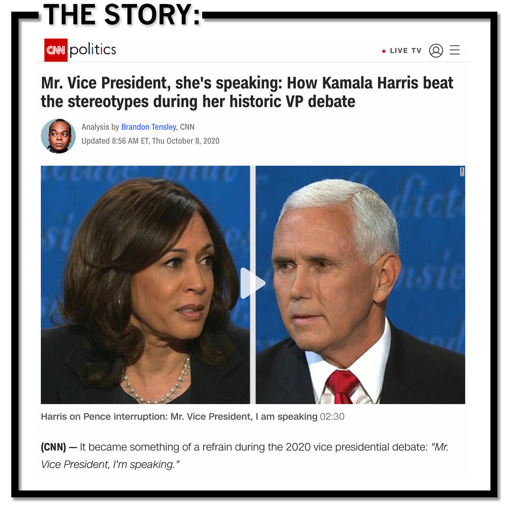 Kamala Harris: I'm Speaking Graphic