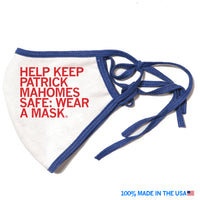 Help Keep Patrick Mahomes Safe Face Mask