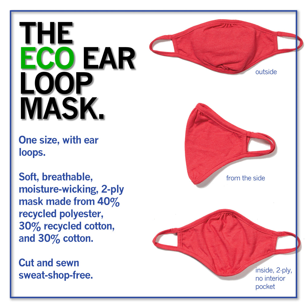 Ear Loop Fabric Face Mask: Keep Patrick Mahomes Safe - White