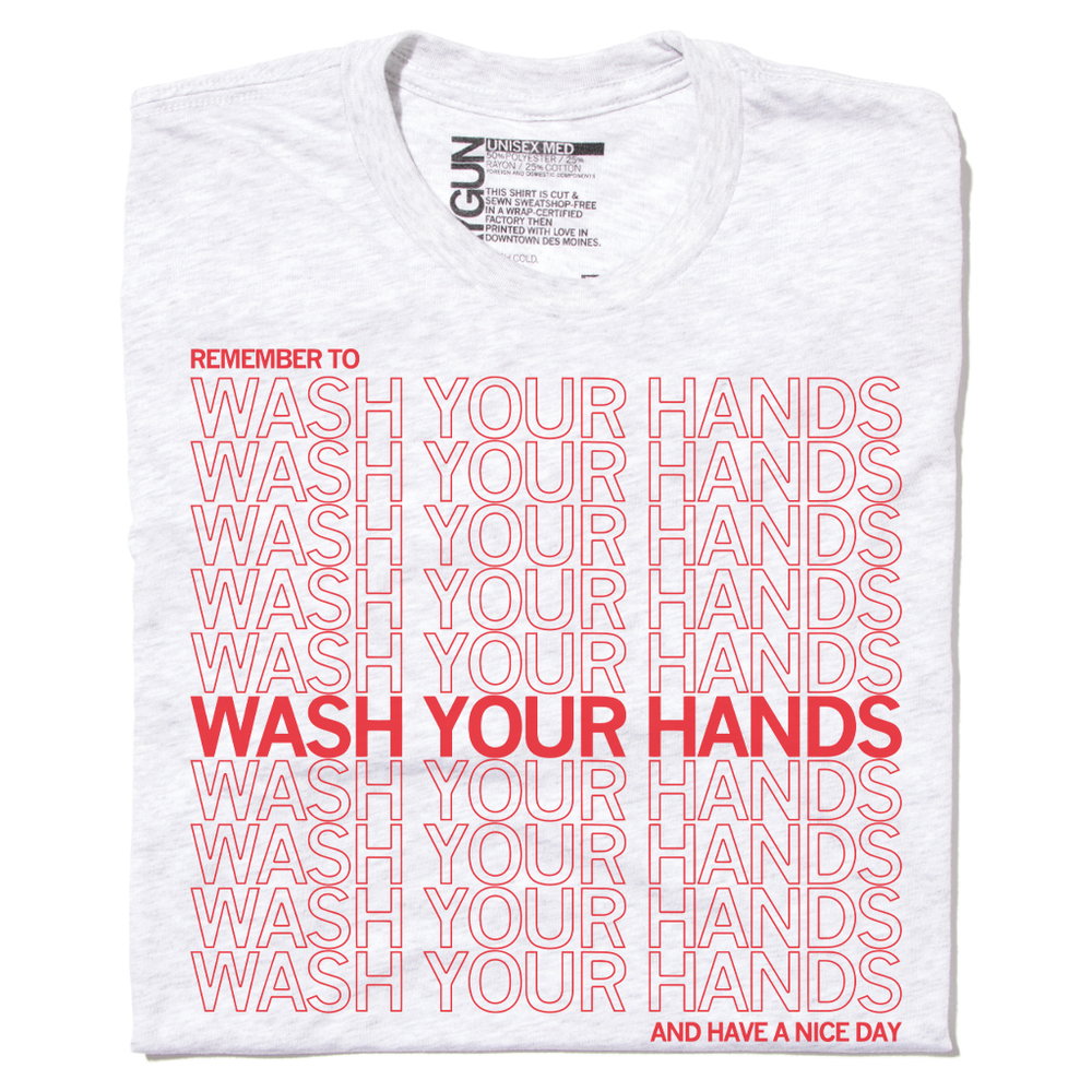 Thank You for Washing Your Hands Repeating Pattern Shirt for Coronavirus