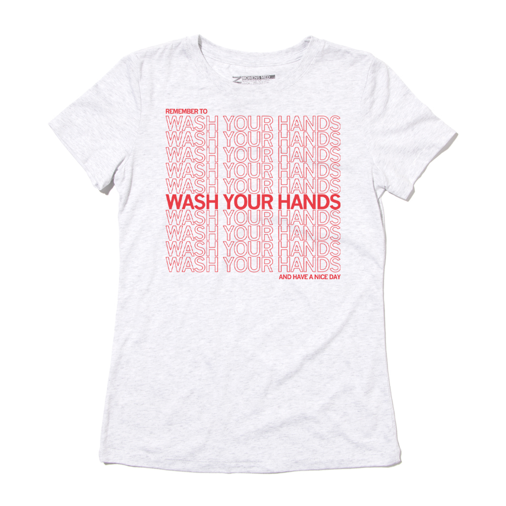 Thank You for Washing Your Hands Repeating Pattern Shirt for Coronavirus Snug Size
