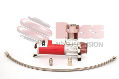 Boss Air Suspension 12 Volt Air Compressor PX02 Braided Hose, Flare and Check Valve