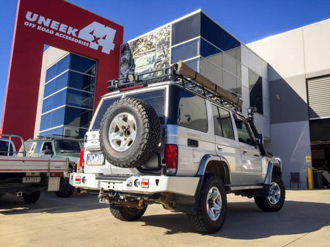 UNEEK 4X4 REAR BAR AND TYRE CARRIER- LANDCRUISER 76 SERIES