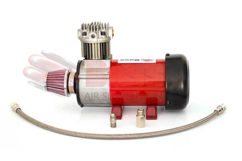 Boss Air Suspension 12 Volt Air Compressor PX07 Braided Hose, Flare and Check Valve