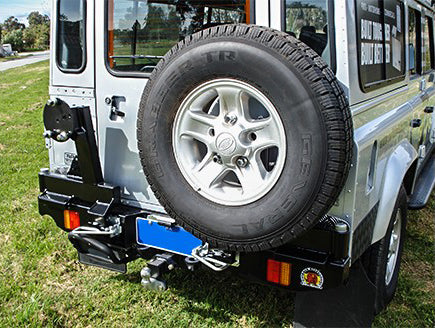 OUTBACK ACCESSORIES REAR WHEEL CARRIER-LAND ROVER DEFENDER