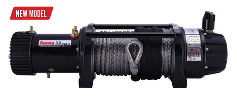 NEW RUNVA EWB9500-Q PREMIUM 12V WINCH WITH SYNTHETIC ROPE