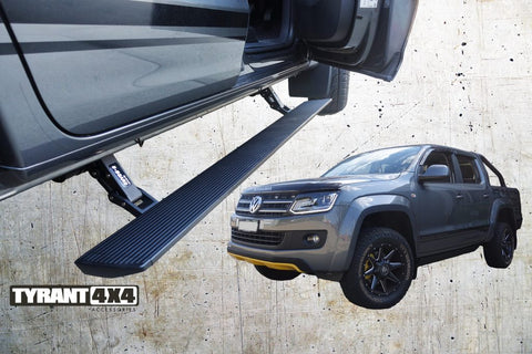 EBOARD RETRACTABLE ELECTRONIC SIDE STEPS TO SUIT VOLKSWAGEN AMAROK