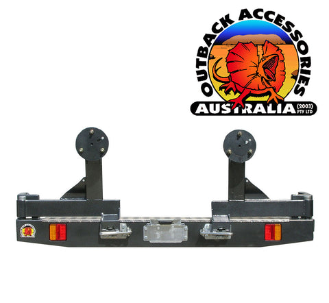 OUTBACK ACCESSORIES TWIN WHEEL CARRIER- HOLDEN COLORADO 7