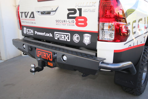 PIAK - PREMIUM REAR STEP TOW BAR WITH SIDE PROTECTION - TOYOTA HILUX (2015-ON)
