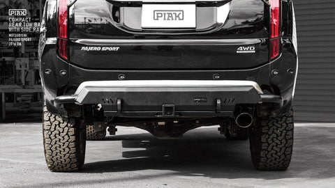 PIAK - COMPACT REAR TOW BAR W/SIDE RAILS - PAJERO SPORT 2016+