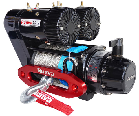 Runva EWS10000 PREMIUM 12V with Synthetic Rope - full IP67 protection- COMPETITION SERIES