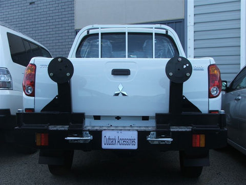 OUTBACK ACCESSORIES REAR WHEEL CARRIER- MITSUBISHI ML TRITON (7/06 to 07/2009)