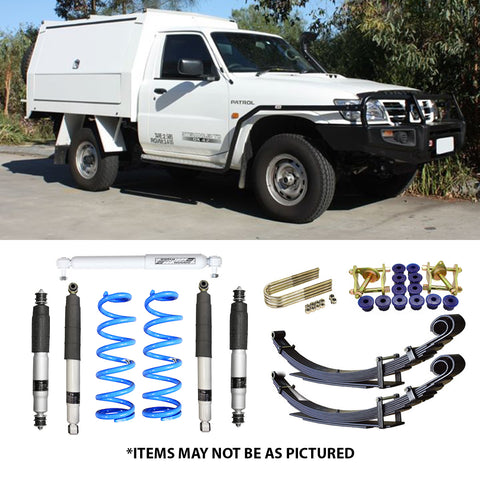 "SELECT 4WD OVERLAND SERIES 2"" LIFT KIT- NISSAN PATROL GU CAB CHASSIS (LEAF REAR)"
