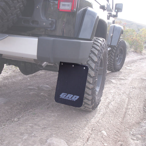 grd quick disconnect mud flaps splash guards 07 17 jeep. Black Bedroom Furniture Sets. Home Design Ideas
