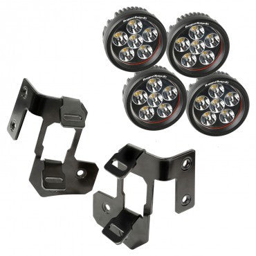 Rugged Ridge A-Pillar Light Mount Kit, Round LED, 07-15 Wrangler