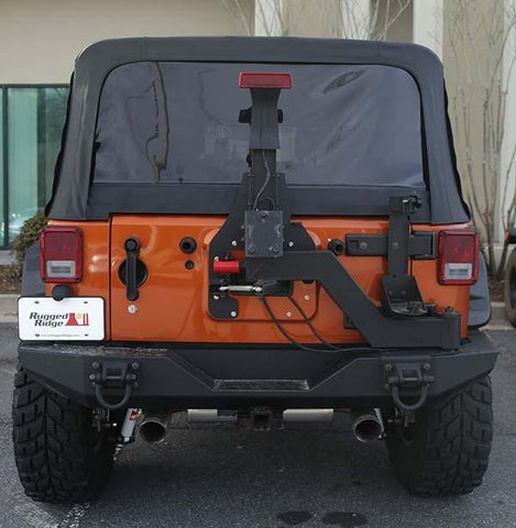 Rugged Ridge XHD Gen II Swing and Lock Tire Carrier, 07-15 Jeep Wrangler (JK)