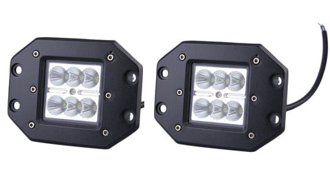 2016 2pcs High Quality 4INCH 18W for Square Flood LED Work Light Bar Bumper Off Road TRUCK for Jeep