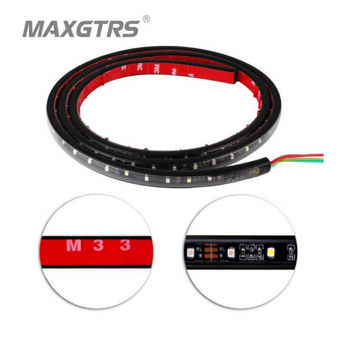1.5M Red White Truck SUV Offroad LED Tailgate Light Bar Taillights Rear Turn Signal Lights Brake Backup Reverse Lights For Jeep