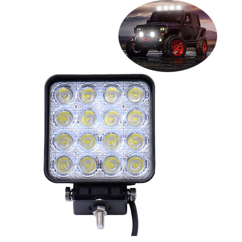 1PC Unviersal Car Boat Truck 12V 24V 48W 16 LED Work Lamp Light Bar Spot Offroad Tractor Car Accessories