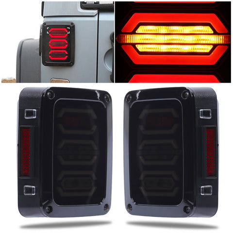 1 Pair Tail Light Lamp Generation 4th EU for Jeep Wrangler Tail Light Car Styling Accessories High Quality