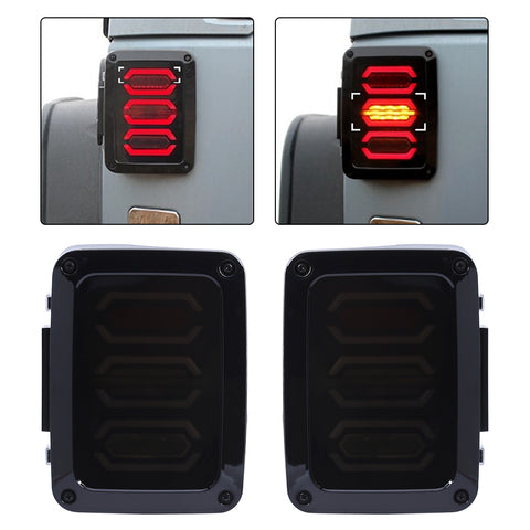 2Pcs Tail Light Lamp 4th Generation US for Jeep Wrangler 07-17 LED Brake Running Reverse Taillight Car-styling Accessories