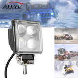 Aozbz 12w Car LED Light Offroad Work Light Bar for Jeep 4x4 4WD AWD Suv ATV Golf Cart 12v Driving Lamp car Fog Light car styling