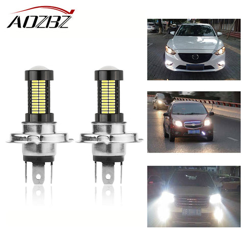 AOZBZ 2pcs 40W 9006 1156 H4 H8 Car 4014SMD 108-LED Headlight DRL Day Running Driving Lamp Bulb 6000K DC 12V For Jeep Wrangler