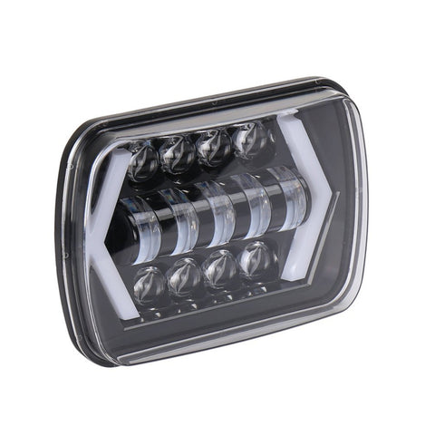 55W High Brightness Day Time Running Square Shape Light 7 Inch Car LED Lights for Wrangler Car & Truck
