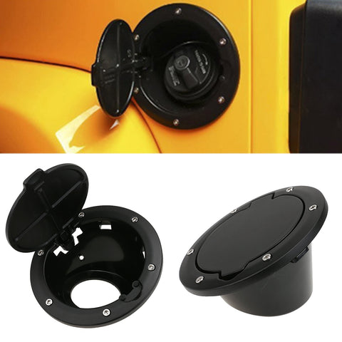 Black ABS Fuel Door Gas Tank Cover Fuel Tank Cap Car Styling Accessories Fit For Jeep Wrangler JK 07-16 2/4 Doors 2007-2016 year