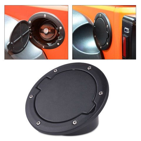 DWCX Car Black Fuel Filler Cover Gas Tank Cap for Jeep Wrangler JK Rubicon Sahara & Unlimited 2/4 Door 2007 2008 2009 - 2015