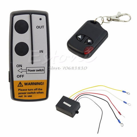 24V 50ft Winch Wireless Remote Control Set for Truck Jeep ATV Warn Ramsey Z09 Drop ship