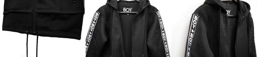 BOY London Mesh Longline Track Jacket