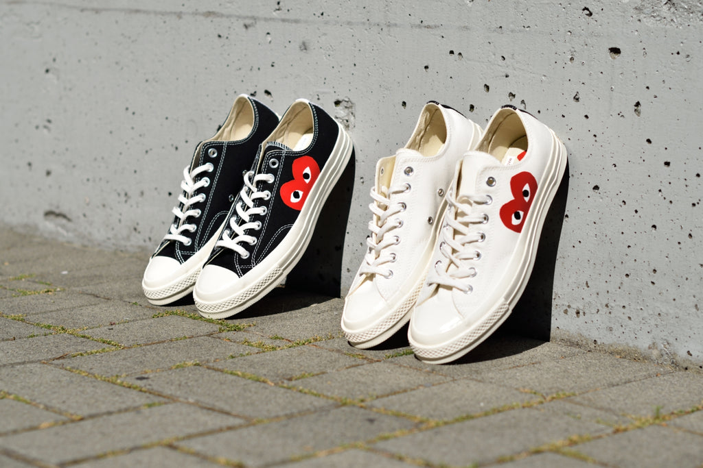 e191956220ac This week we re taking a look at the Comme des Garcons Play x Converse  Chuck Taylor All Star  70 Low Top sneaker. Similar to the High Top version