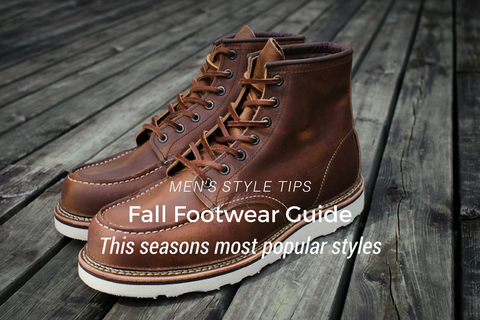Mens Footwear Guide - Boot Styles for Fall